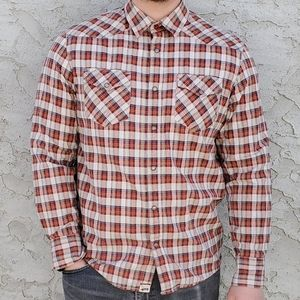 Mens Van's Plaid Button Down Shirt